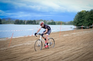 Trek's James Collins putting the Crockett through its paces at Weston Park